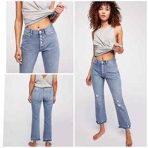 Free People The Dylan High-Rise Cropped Jeans
